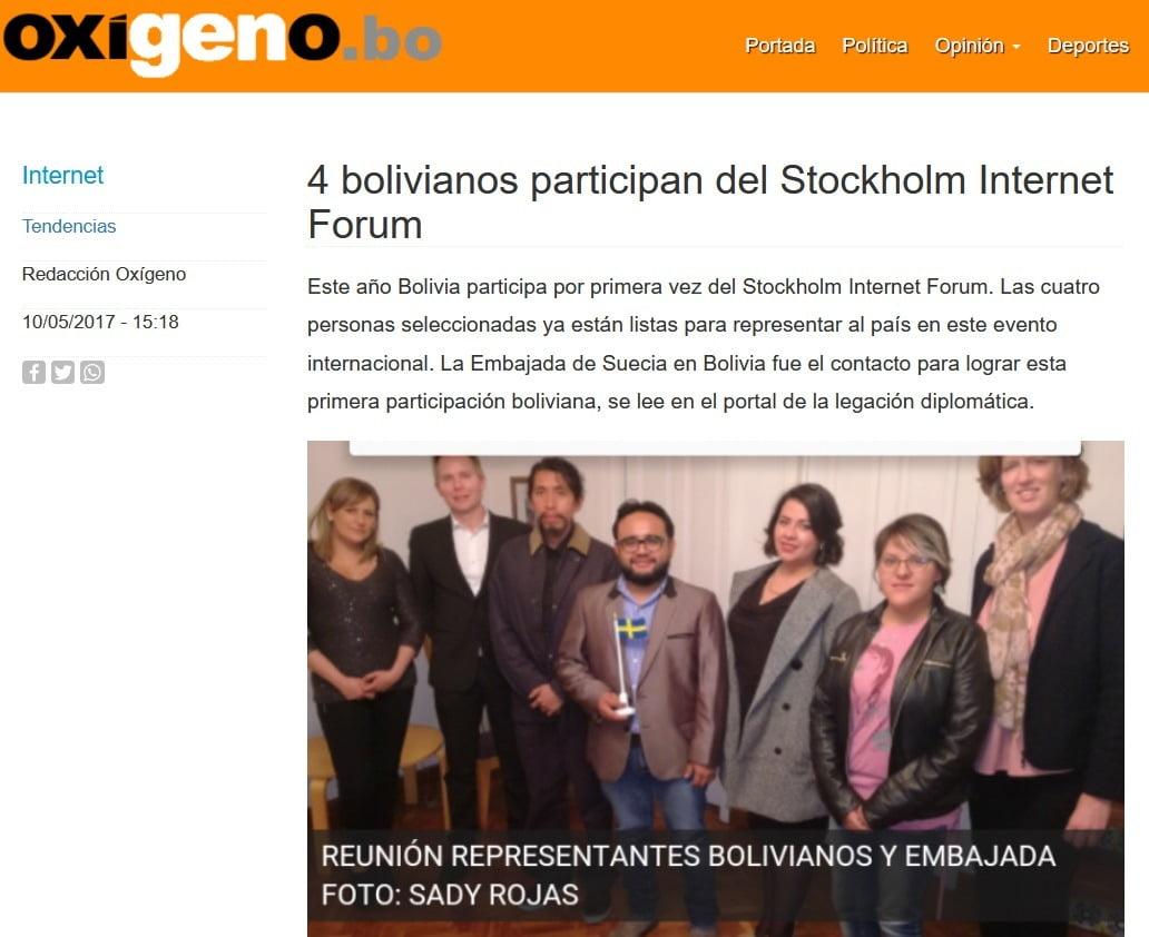 Stockholm Internet Forum Bolivia
